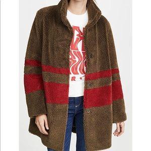 Striped Sherpa Coat